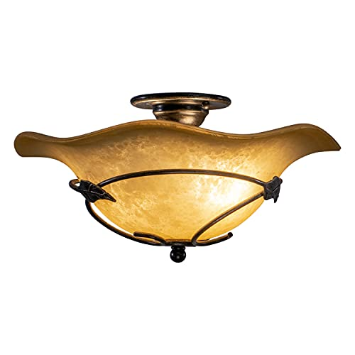 Stunning Lights That Match Allen and Roth Eastview Lighting Collection: Vaxcel CF38815OL Vine Semi-Flush Mount