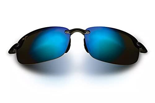 Maui Jim Ho'okipa w/ Patented PolarizedPlus2 Lenses Polarized Sport Sunglasses, Smoke Grey/Blue Hawaii Polarized, Medium