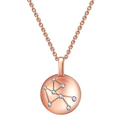 Collares Mujer 925 Constelación de Tauro Horóscopo Astrología collar 12 Constelación muestra del horóscopo collar de regalos de cumpleaños de la astrología del zodiaco estrellas for los muchachas de l