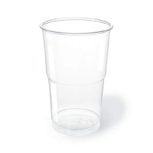 TELEVASO - 600 uds - Vaso de plástico color transparente, de polipropileno (PP) - Capacidad de 250 ml - Desechables y reciclables - Ideal para bebidas frías como agua, refresco, zumos, té helado