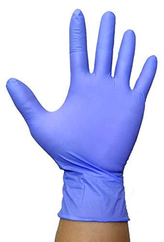 NKare - Guantes de Nitrilo Desechachables - Caja Dispensadora Pack 100 unidades, Talla M, Ambidiestros, Sin Polvo, Sin Látex, Esterilizados, Espesor 0,05mm, Certificado CE, Cuidado Personal, Azul