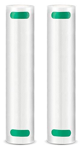 Elechomes 2 Pack Vakuumrollen 20x200cm Vakuumierfolie, Profi Vakuumbeutel für Vakuumierer & Lebensmittel Vakuumiergerät, BPA-frei