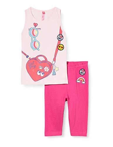 Lina Pink BF.Roll.pco Pijama, Rosa (Rose/Fuschia Rose/Fuschia), 6 años para Niñas