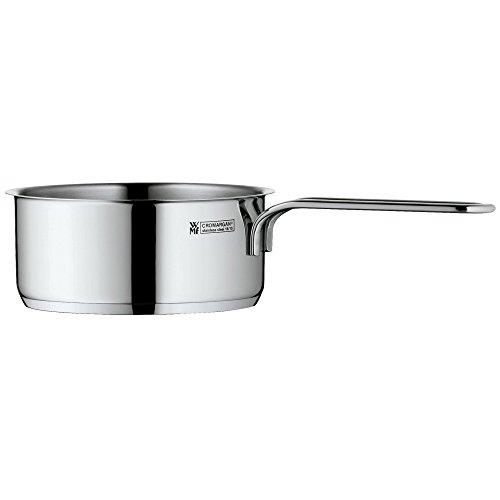 WMF Mini Stielkasserolle, 12 cm, klein, ohne Deckel, Kochtopf 0,7l, kleiner Topf für Singlehaushalt, Cromargan Edelstahl poliert, Induktion, stapelbar, ideal für kleine Portionen