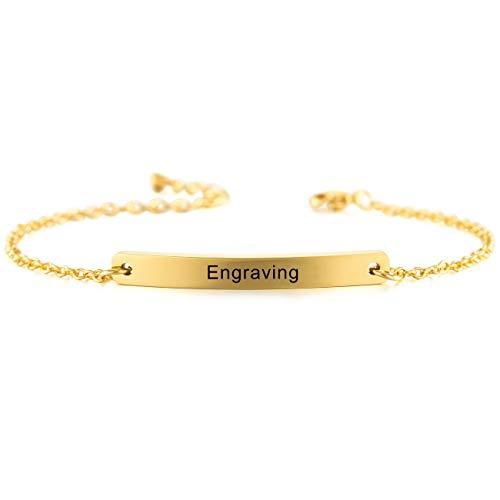 MeMeDIY Personalisierte Armband Namen Angepasst für Frauen Mädchen Edelstahl Einstellbare Knöchel...