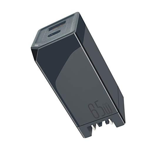 PD65Wポータブルラップトップ充電器携帯電話速い充電(黒)