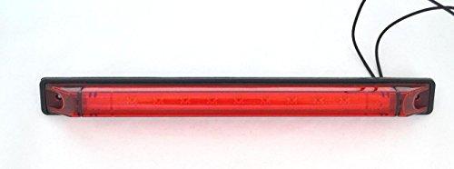 Tubo con 9 luces LED rojas de 12 V 24 V homologado para coche, caravana, camioneta, camión, VUD, etc. (luz trasera de parada)
