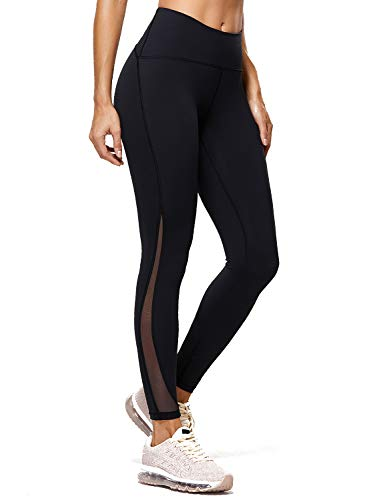 CRZ YOGA Naked Feeling High Waist 7/8 Leggings Mesh Yoga Tight Workout Leggings with Zip...