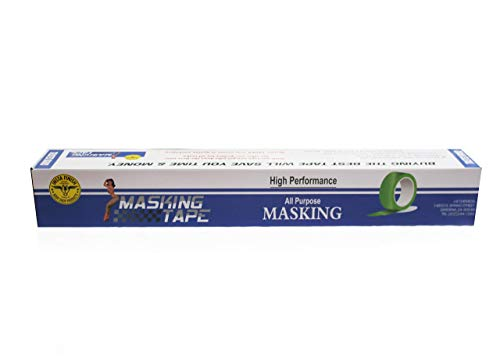 """Insta Finish Automotive Masking Tape 48 Rolls - Green Auto Masking Tape for Industrial and Commercial Use - Easy Stick and Release Automotive Paint Tape - Masking Paper Painting Tape - .75"""" Tape Photo #3"""