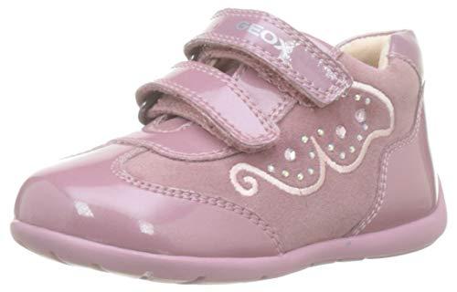 Geox Baby-Mädchen B Kaytan A Sneaker, Pink (Dk Pink C8006), 23 EU
