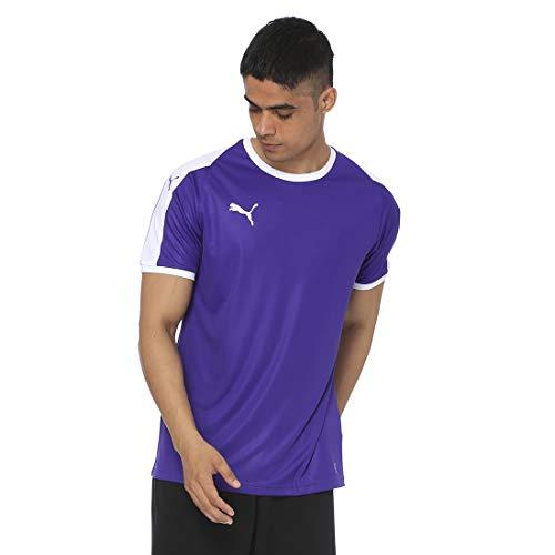 PUMA Liga Jersey T-Shirt, Hombre, Prism Violet White, XXL