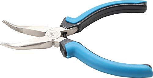 BGS 383 | Alicate de boca semirredonda curvada para electrónica | 125 mm