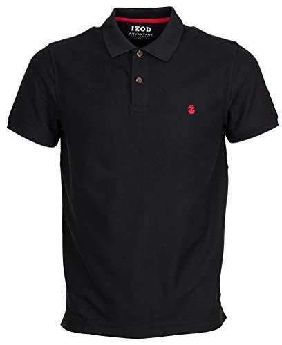 IZOD Herren Performance Pique Polo Shirt, Schwarz (Black 001), Large