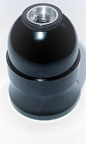 Original Bakelit Fassung E27, hochwertige Retro Antik Vintage Lampenfassung mit Glattmantel für Industrial Pendelleuchten Schwarz