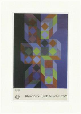 Kunstdruck Olympische Spiele München 1972 Poster Victor Vasarely Plakatwelt 675