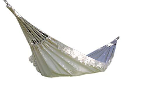 SENCILLON Hamac brésilien double hamac - Lit 2 personnes pour jardin, porche, extérieur et intérieur - Tissu en coton tissé doux pour un confort suprême