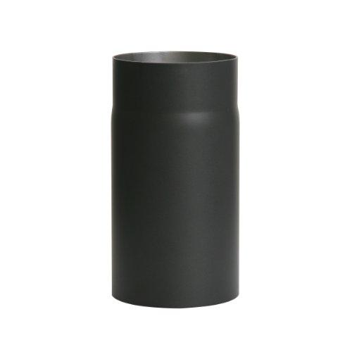 Kamino Flam Ofenrohr schwarz, Rauchrohr aus Stahl für sichere Ableitung von Verbrennungsgasen, hitzebeständige Senotherm Beschichtung, geprüft nach Norm EN 1856-2, Maße: L 250 x Ø 130 mm