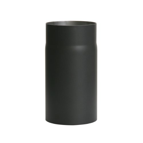 Ofenrohr Senotherm® 2 mm Ø 130 mm hitzebeständig lackiert, gerade - Rauchrohr, Kaminrohr schwarz - für Pellettofen und Kamine - Länge: 250 mm