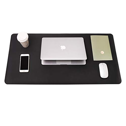 Writing Desk Pad Protector, YSAGi Anti-Slip Thin Mousepad for Computers,Office Desk Accessories Laptop Waterproof Desk Protector for Office Decor and Home(Black, 31.5' x 15.7')