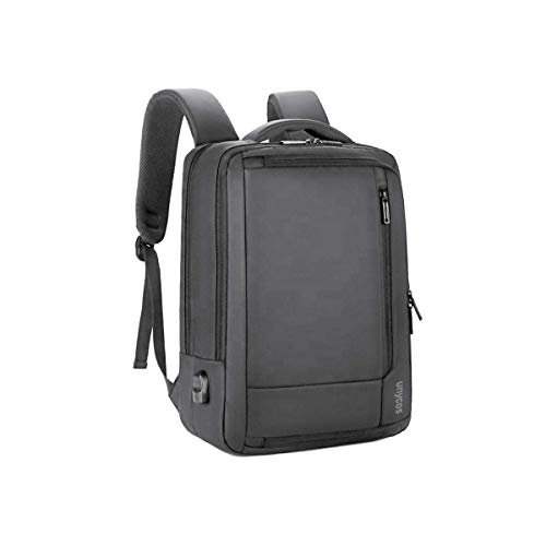unycos - Mochila para Portátil- Mochila Impermeable con Puerto USB para Hombre o Mujer - Horizontal y Vertical - Casual o Ejecutivo - Convertible - Viajes - 41 x 30 x 10 cm (M. Gris)