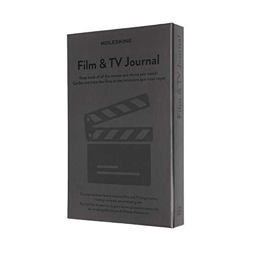 Moleskine - Film & TV Journal, Taccuino per Appassionati di Cinema, Film e Serie TV, Quaderno per Recensire Film con Introduzione alla Storia del Cinema, Copertina Rigida, Colore Grigio, 400 Pagine