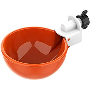 The Urban Aviary Triggerless Bucket Mount Poultry Watering Cups 4 Pack for Chickens Ducks Turkeys Quail Pigeons No Trigger Or Float to Jam Or Clog