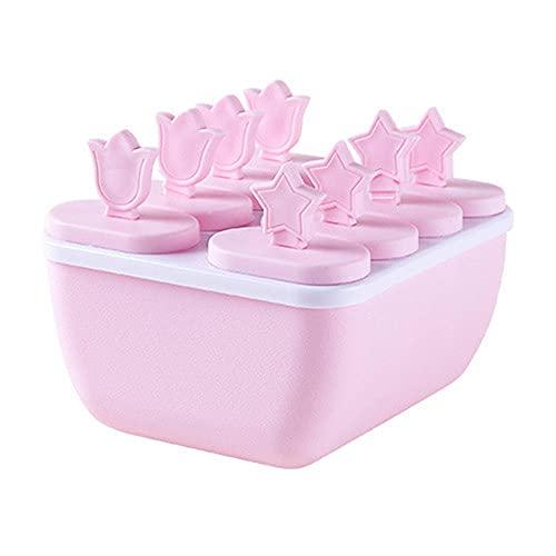 Molde de helado de 6 hoyos, conjunto de fabricantes de paletas, excelente para la dentición reutilizable DIY DIY HOOL HERRAMIENTAS PARA NIÑOS