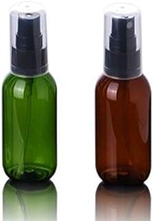 Bijou Cat スプレーボトル 50ml プラスチック製本体 遮光 霧吹き 緑・茶色 2本セット