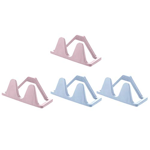 Cabilock 4 Piezas de Zapatero Montado en La Pared de Plástico Adhesivo Sostenedor de Zapatos Organizador de Almacenamiento Zapatillas de Baño Zapatero para La Entrada de Baño Y El Armario