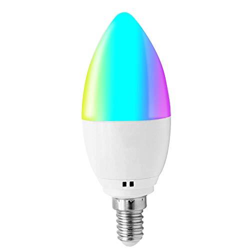 Lampadina WiFi Smart,Entweg Lampadina WiFi Smart Lampadina LED RGB + W E14 Luce dimmerabile Telefono APP Telecomando Controllo vocale Temporizzazione Compatibile con Alexa Google Home Tmall Elf