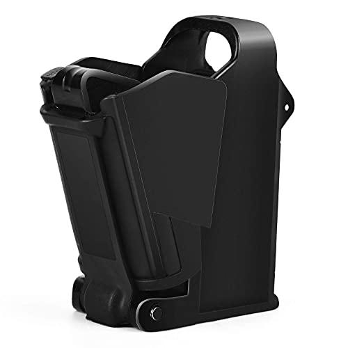 LQG Cargador rápido Universal para la mayoría de 9 mm a 45ACP, para Cargador Universal, Marco de Nailon Duradero y Piezas de Acero, Recarga y Descarga rápidas
