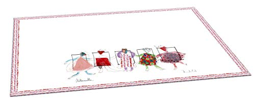 Clairefontaine 115624C - Un Sous-main Bureau en Carton 60x40 cm motif Personnages Heureux/Colorés/Tendres/Pleins d'Esprit - Collection Ritournelle