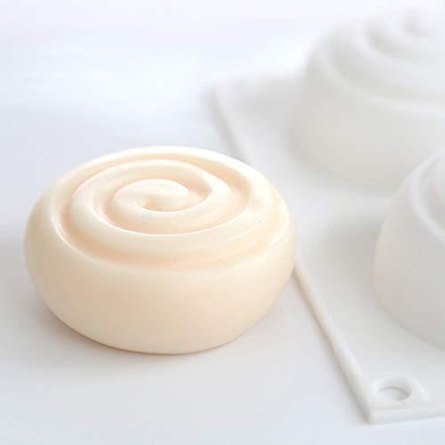 FADACAI Runde Silikonform Seife Form Mousse Kuchen Seife Zuhause & Küche Schokolade & Süßigkeiten Formen Kochen & Dessert Set (Style 1)