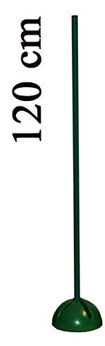 Agility Sport pour Chiens - Socle Multi-Fonctions remplissable avec Jalon - Longueur 120 cm, Ø 25 mm - Couleur: Orange - 1x xs120o