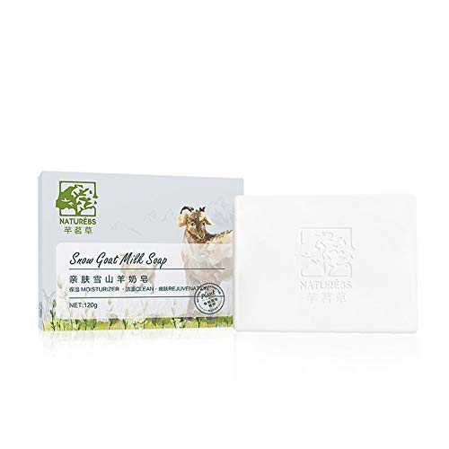 weixinbuy Goat Milk Handmade Soap Moisturizing Oil-Control Anti-Mite Remove Blackheads Cleaning Soap, Great Choice and Gift.