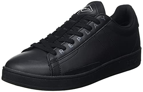 Replay Herren Pinch-Classic Base Sneaker, 003 Black, 41 EU