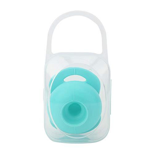 Chupete para bebé, chupete de silicona retráctil para bebé, pezón relajante, juguete apaciguador para bebés de 0 a 3 meses(Azul)
