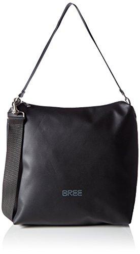 BREE Pnch 702, black, cross shoulder M 83900702 Damen Umhängetaschen 30x12x32 cm (B x H x T), Schwarz (black 900)
