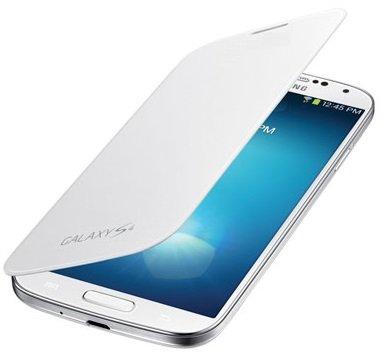 itronik® Flip Cover Schützende Display-Klappe für Samsung Galaxy SIV S4 I9500 I9505 Weiss