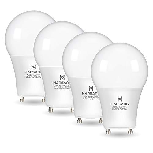 Hansang GU24 LED Light Bulb,A19 Shape Bulb,9W (100W Equivalent),900 Lumens,2700K Warm White,Gu24 Twist Lock Base,Replacing CFL Ceiling Light for Home,Non-Dimmable 4 Pack