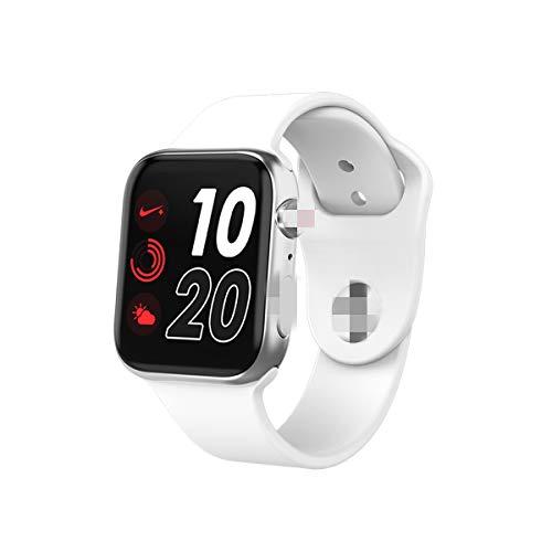 Intelligente Uhr,1.54In Iwo Kabelloses Laden Bluetooth Anruf Herzfrequenz Blutdrucktest Fitness Tracking Uhr I6 Plus Smartwatch Für Männer Frauen Für Ios Android,Silver