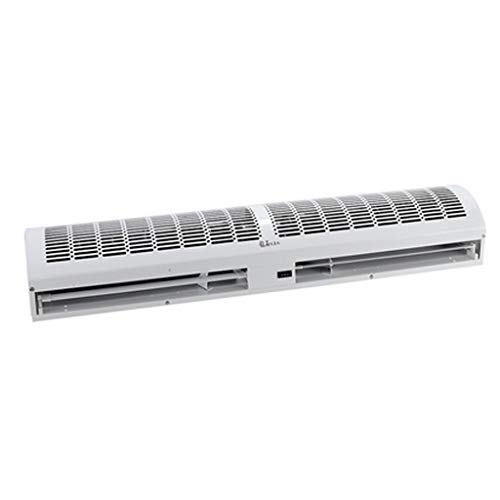 LING AI DA MAI Gewerblicher Innenluftschleier, geräuscharmer ultradünner Innenluftschleier + kleine kompakte Klimaanlage mit Fenstereinbau, mit 2 Endschalterräumen, mit voll funktionsfähiger Fernbed