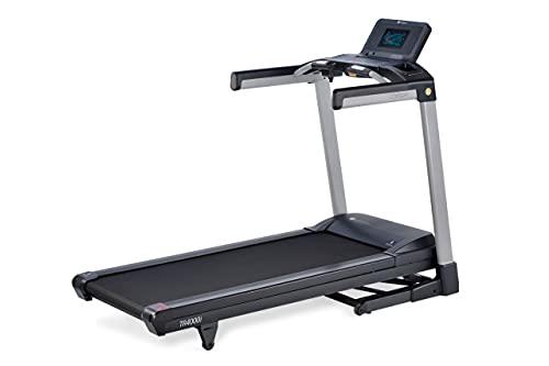 LifeSpan Fitness TR4000iT Laufband, Bluetooth für Smartphone/Tablet Fitness App, 13% Heilung, Bluetooth-Lautsprecher, großes Profil mit Dämpfung, beladen bis 159 kg, Faltbarer Kompaktspeicher