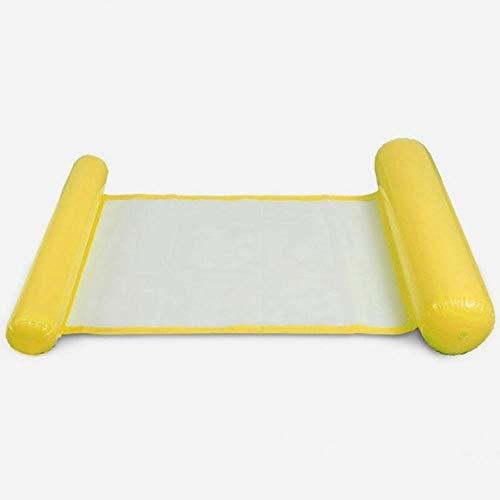 MRSA Aufblasbare Matratze für Schwimmbadmatte Schwimmmatratze Pool Aufblasbare Boje Luftmatratze für Schwimmbecken Pool Wasserbett, Gold