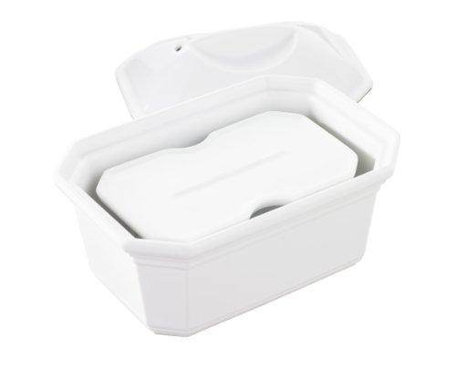 Revol 641229 Terrine avec Couvercle + Presse Porcelaine Blanc 17 x 12 x 10 cm