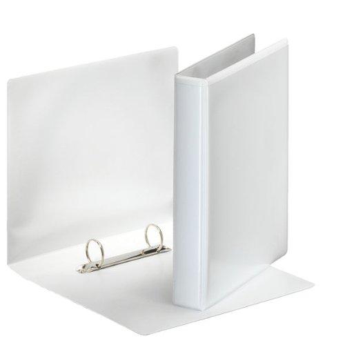 Esselte - Archivador de anillas (A5, 25 mm, 12 unidades), color blanco