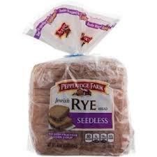 Pepperidge Farm: Jewish Rye Seedless Bread, 16 Oz (Pack of 2)
