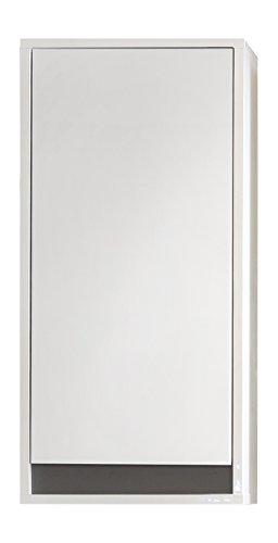 trendteam smart living Badezimmer Hängeschrank Wandschrank Sol, 35 x 73 x 23 cm in Korpus Weiß, Front Weiß Hochglanz mit viel Stauraum