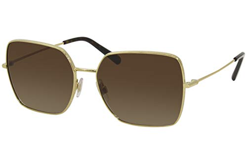 Dolce & Gabbana Gafas de Sol SLIM DG 2242 GOLD/BROWN SHADED 57/16/140 mujer