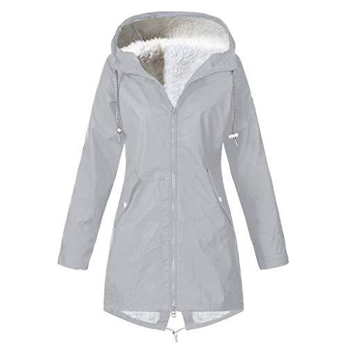 Regenjassen waterdicht dames grote maten Dasongff windbreaker weerbestendig overgangsjas regenjas met capuchon jas outwear regenjas trenchcoat 4XL grijs